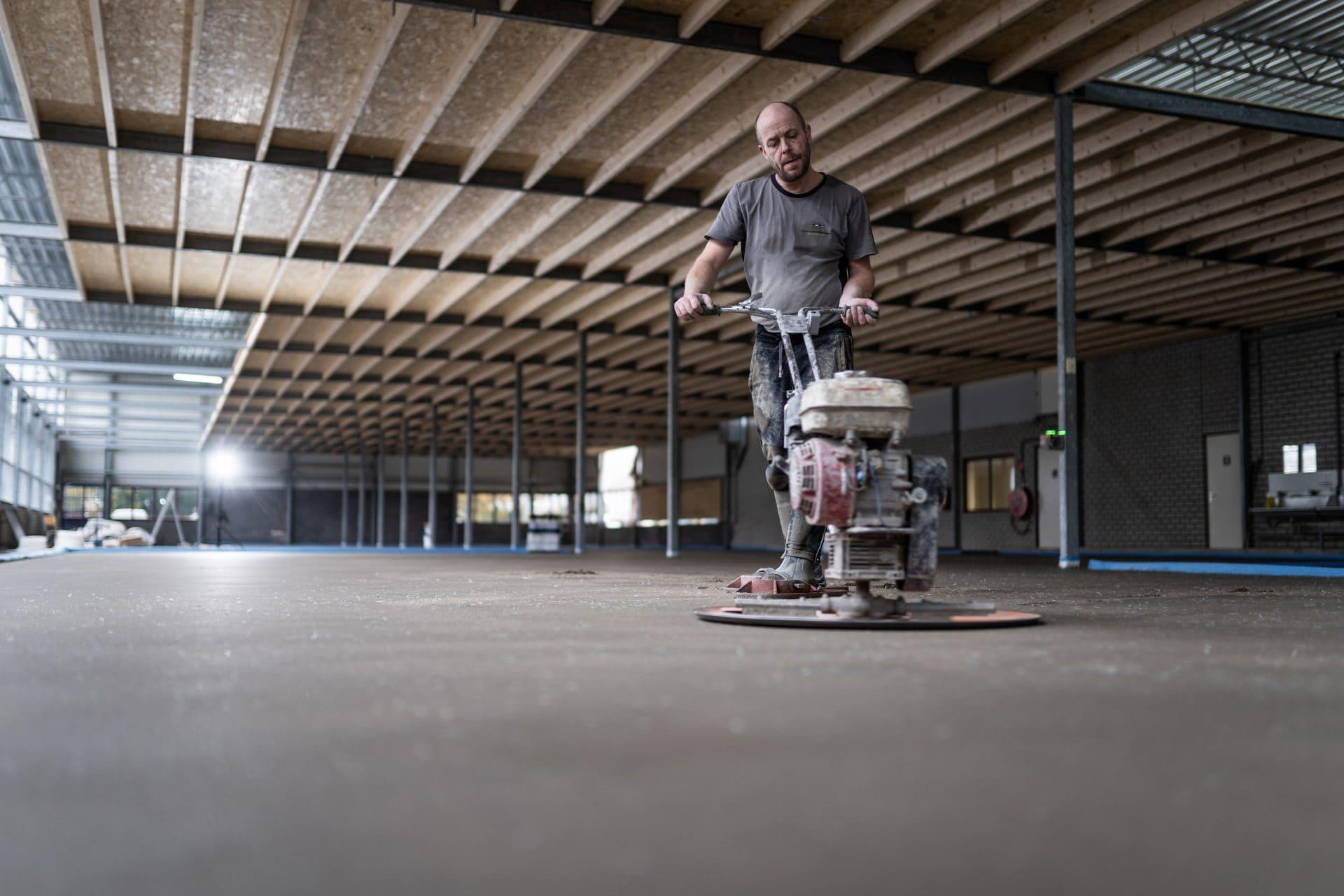 Cementdekvloer maken